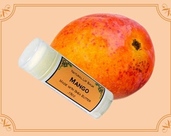 MANGO Lip Balm made with Shea Butter - .15oz Oval Tube