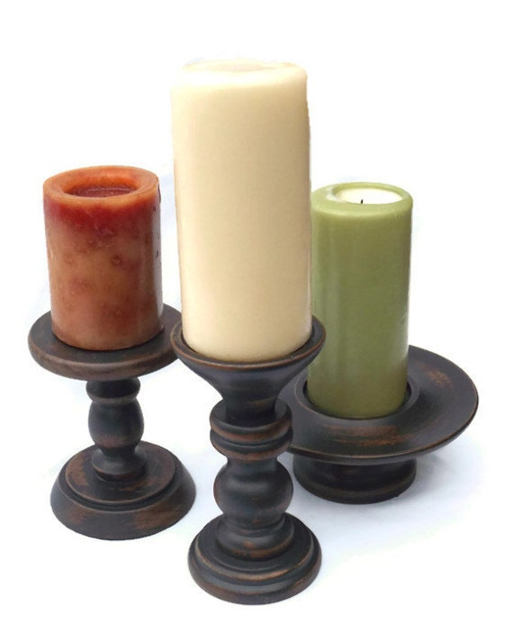 Wood candle holders rustic candle holder pillar candle for Rustic wood candle holders