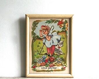 Vintage Little Bo-Peep Hiawatha Heirloom Needle Painting USA L 94 Scarce
