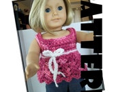 Crochet Pattern: Babydoll Smock for American Girl and similar 18 inch dolls