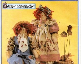 OOP Raggedy Ann & Andy Primitive Folk Dolls - Simplicity 7446 - Craft Pattern UNCUT FF Daisy Kingdom