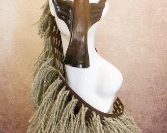 Horse Leather Mask