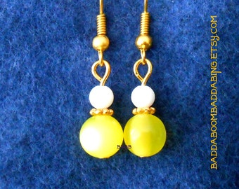 Lemon Drop Earrings - Surgical Steel French Hooks Option
