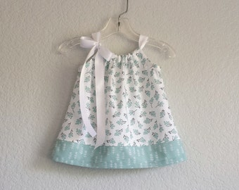 New! Infant Dress and Bloomers Outfit - Mint Green and White Sun Dress - Baby Girls Green and White Dress - Size NB, 3m, 6m, 9m, 12m or 18m