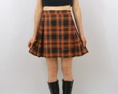 Vintage Tartan Mini Skirt, Sexy Mini Skirt, XS Clothing, 90's School Girl, High Waisted Mini Skirt, Grunge Skirt, Tumblr Clothes, Indie