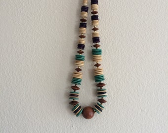 1 9 8 0 s / Wood Bead Necklace
