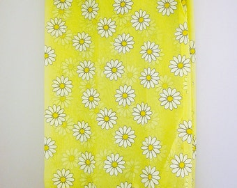 1960s Daisy Curtains, Bright Yellow Sheers, Polyester Panels, Ruffled Cafe Curtains, New With Out Package, Vintage Daisies Home Decor