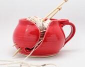 Red Yarn Bowl, Made Per Order