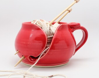Red Yarn Bowl, ORDER NOW To Receive Before CHRISTMAS