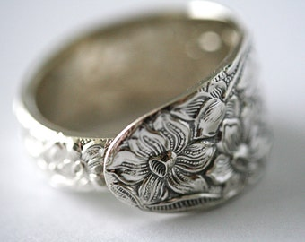 Vintage Spoon Ring (Silver Plated)- Narcissus, 1912