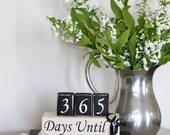 Custom Wedding Countdown. Countdown to Wedding. Countdown to Our Wedding. Wedding Gift. Custom Blocks. Countdown Blocks.