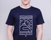 Cycling Art T-Shirt - Telegraphe-Galibier