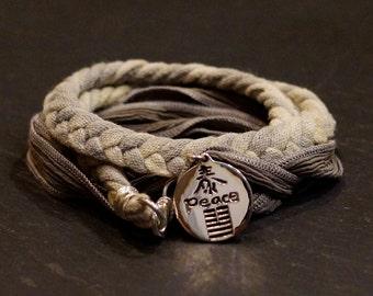 Hemp Zen Warrior/ warrior wrap/bracelet/necklace