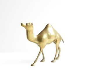 Vintage Large Brass Camel