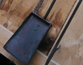 hand forged fire poker and shovel set - heavy duty steel, blacksmith made, hand forged