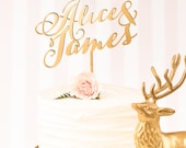 Wedding Cake Topper - Custom Cake Topper - Gold- Soirée Collection