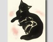 "Cat Art Print ""SALE"" (Vintage Cat Illustration, Cat Drawing, Cat Mom) --- ""Sheba's Kittens"" No. 11"