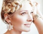 ANANYA EARRINGS gold or silver bridal earrings. Bohemian bridal earrings by AnnKat Designs