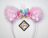 RESERVED TO MONICA-Pastel Rainbow Unicorn Headband- Lolita Headband- Unicorn Headband- Pony- Lolita Accessories- Rainbow