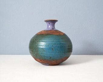 Large Vintage Frank Matranga Round Stoneware California Pottery Weed Pot