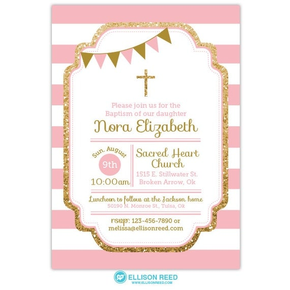 Minnie mouse invitation for baptism orderecigsjuicefo baptism invitation baptism invitation girl pink and gold printable invitations stopboris Images