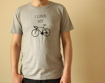 Mens Bike T Shirt - I Like My Bike - Ethical T Shirt - Organic Cotton