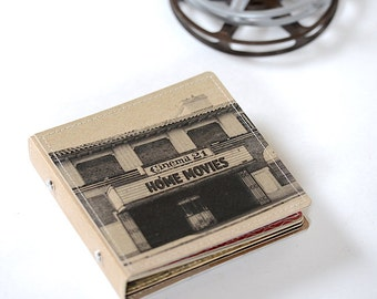 10 DVD/ CD Holder Book/ Handmade Upcycled DVD Wallet- Home Movie Edition