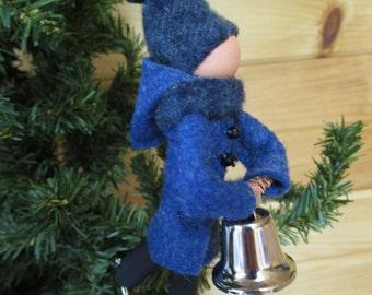 Ice Skater Christmas Ornament - Gentleman, Clothespin Ornament,Skating