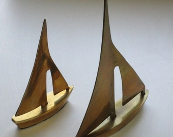 Brass Sailboats - Set of 2