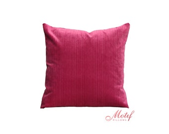 Throw Pillows Rules : Pink Pillow Cover Raspberry Pink Geometric Pillow by MotifPillows