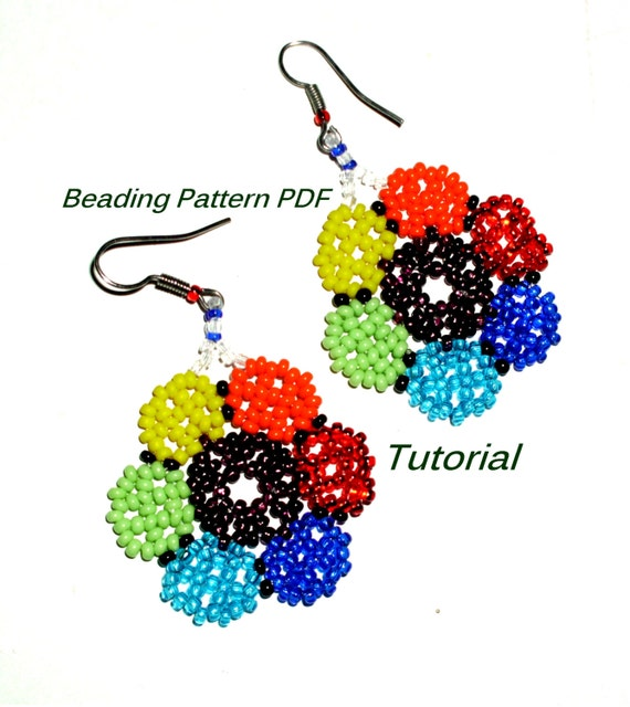 beading pattern pdf earrings patterns beading tutorial by
