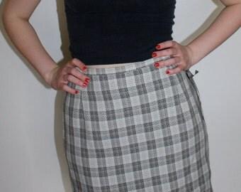 NWT DEADSTOCK Plaid Mini Skirt