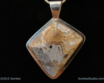 Mexican Agate in Argentium Sterling Silver