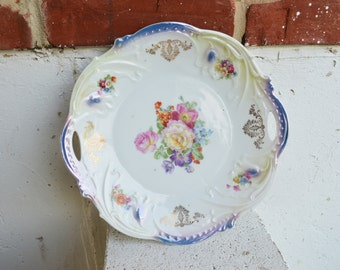 Decorative Floral Plate, Made in Germany