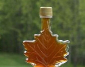 50 ml Glass Maple Leaf - 1.7 oz - Pure Vermont Maple Syrup