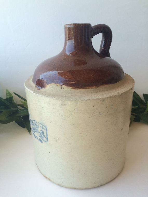 Antique Clay Whiskey Jug Douglass Clay Products Los By
