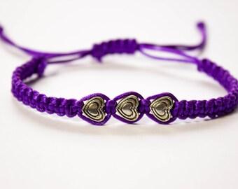 Heart Bracelet | Beaded bracelet | Macrame bracelet | Friendship bracelet | Stackable bracelet | Boho bracelet | Love bracelet | Layer