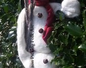 Snowman Skinny Cotton Batting Plaid Stocking Hat