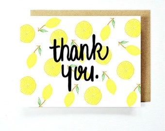 Thank You Card - Lemons Card Set