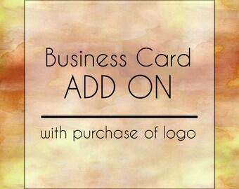 Custom Premade Logo Add On : Business Card