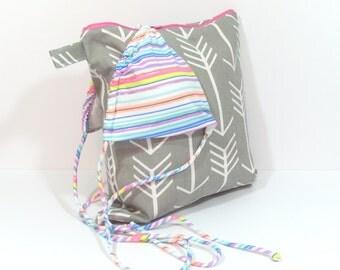 Arrow Wet Bag, Wet Bikini Bag, Large Wet Bag, Zippered Wet Bag, Swim Wet Bag, Wet Dry Bag, Wet Dry Gym Bag, Wet Nappy Bag, Diaper Wet Bag