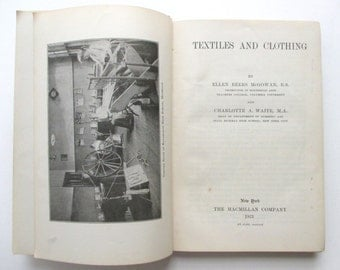1920s Clothing and Textiles Antique / Vintage Book