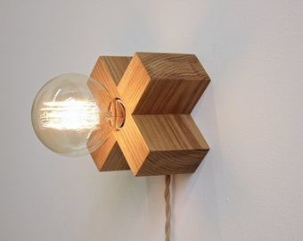 Erle Kenton Sconce- wood wall lamp