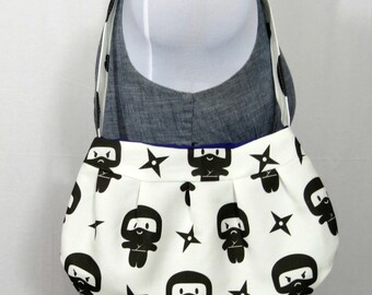 Black White Ninja Small Purse