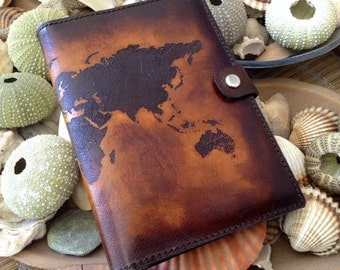 Passport covers etsy hk personalized world map passport holder cover deluxe italian leather engraved hand dyed gumiabroncs Image collections