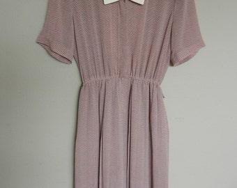 70s japanese chevron print day dress