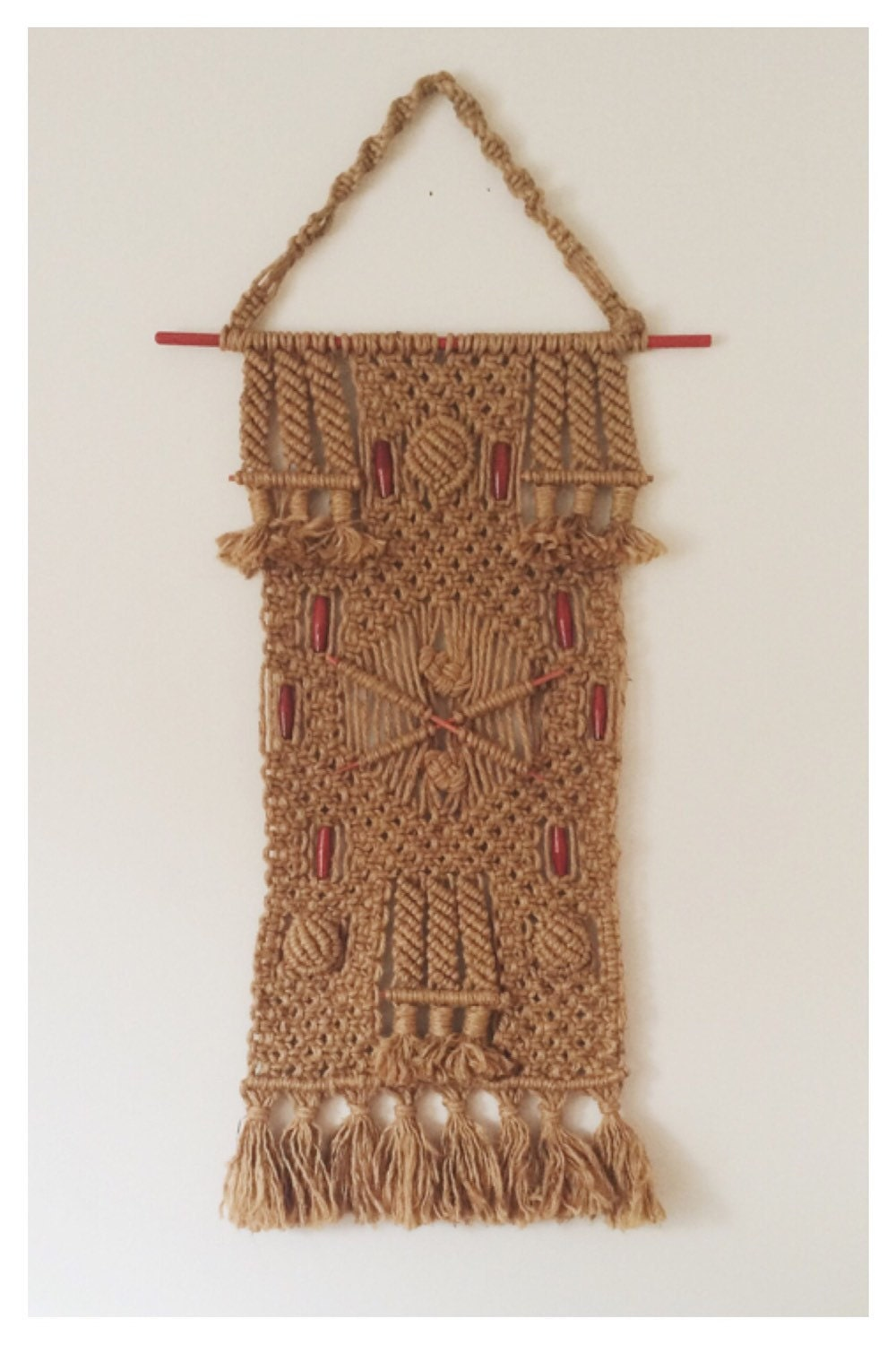 Jute macrame wall hanging large woven rope wall by for Wall hangings