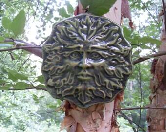 Greenman Statue,Green man Garden Decor, Greenman Wall Plaque,Nature Spirit Plaque, Tree Spirit Statue,Woodland Plaque, Hand Cast Stone