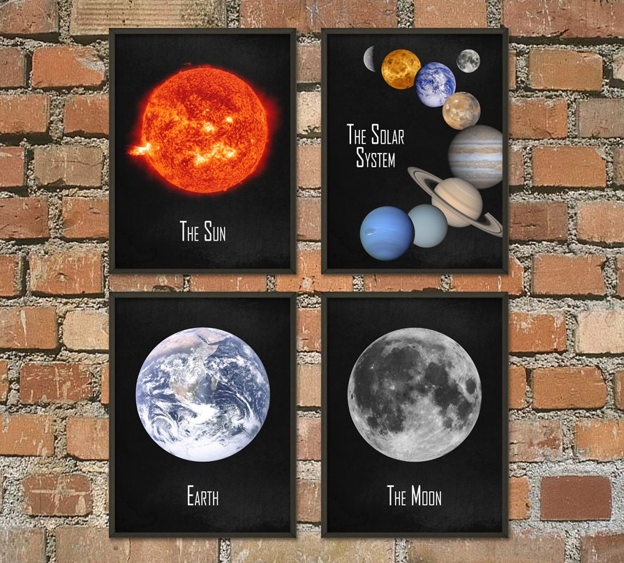 The Solar System Wall Art Poster Set Of 4 Nasa Astronomy