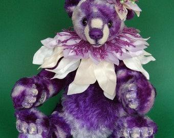 """OOAK Artist Bear """"Passiflora"""""""
